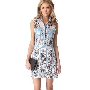 3.1 Philip Lim | Silk Blue Floral Grommet Dress